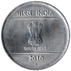 Moneda > 1rupia, 2007-2011 - India  - obverse
