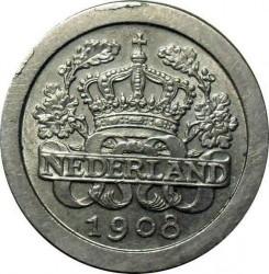 Monēta > 5centi, 1907-1909 - Nīderlande  - obverse