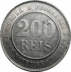 Moneda > 200réis, 1889-1900 - Brasil  - reverse