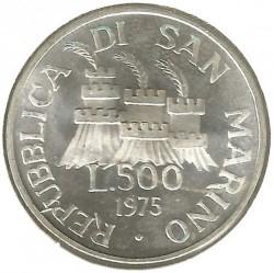 Moneta > 500lire, 1975 - San Marino  (Scultore) - obverse