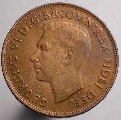 Coin > 1penny, 1949-1952 - Australia  - reverse