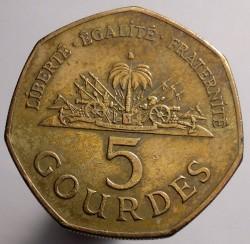 Mynt > 5gourdes, 2007 - Haiti  - obverse