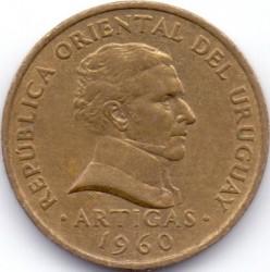 Νόμισμα > 2Σεντέσιμος, 1960 - Ουρουγουάη  - obverse