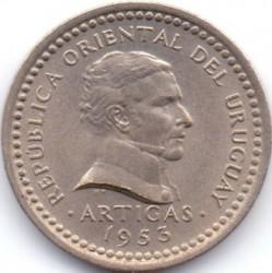 Νόμισμα > 1Σεντέσιμο, 1953 - Ουρουγουάη  - obverse