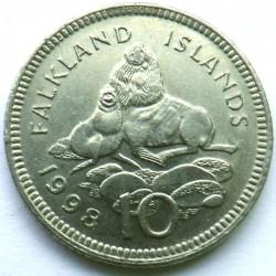 מטבע > 10פנס, 1998-1999 - איי פוקלנד  - reverse