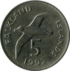 מטבע > 5פנס, 1974-1992 - איי פוקלנד  - reverse