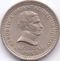 Monedă > 2centésimo, 1953 - Uruguay  - obverse