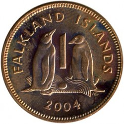 Кованица > 1пени, 2003-2011 - Фокландска Острва  - reverse