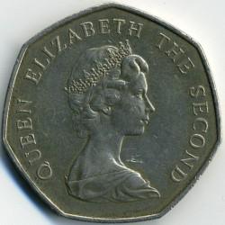 Кованица > 50пенија, 1980-1995 - Фокландска Острва  - obverse