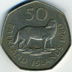 Кованица > 50пенија, 1980-1995 - Фокландска Острва  - reverse