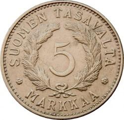 Münze > 5Mark, 1950 - Finnland  - reverse