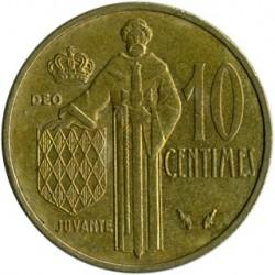 Munt > 10centimes, 1962-1995 - Monaco  - reverse
