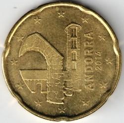 Кованица > 20центи, 2014-2017 - Андора  - obverse