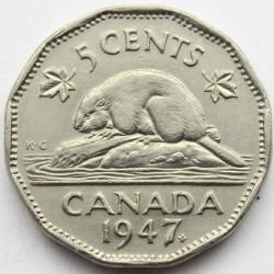 Moneta > 5centai, 1946-1947 - Kanada  - reverse