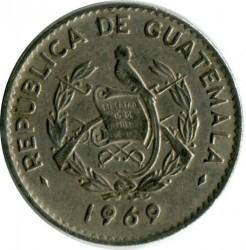 سکه > 10سنتاوو, 1965-1970 - گواتمالا  - obverse
