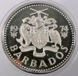 Кованица > 10долара, 1974-1981 - Барбадос  - obverse