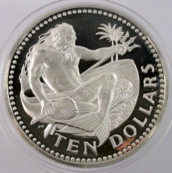 Кованица > 10долара, 1974-1981 - Барбадос  - reverse