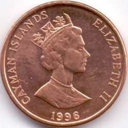 Coin > 1 cent, 1992-1996 - Cayman Islands  - obverse