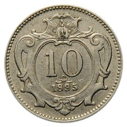 Монета > 10гелерів, 1892-1911 - Австрія  - obverse