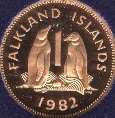 1 penny 1974-1992, Falkland Islands - Coin value - uCoin net