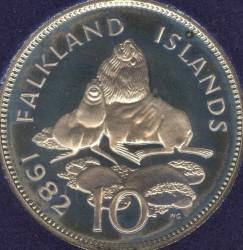 מטבע > 10פנס, 1982 - איי פוקלנד  - reverse