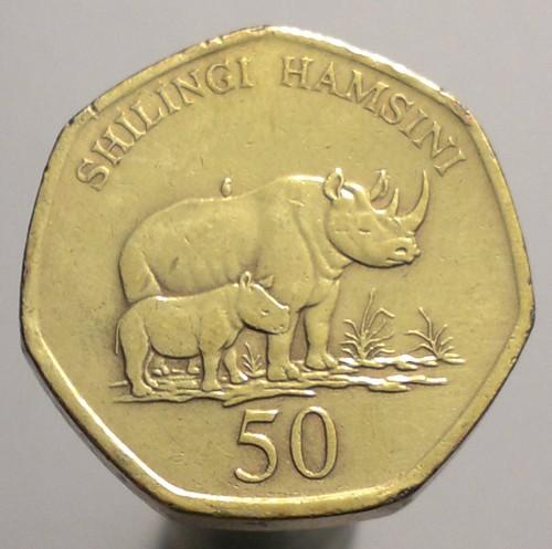 50 Schilling 1996 2015 Tansania Münzen Wert Ucoinnet