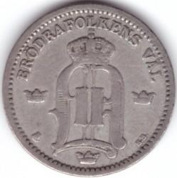 Pièce > 25ore, 1874-1905 - Suède  (Inscription de grande taille) - obverse