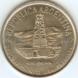Moneda > 2pesos, 2007 - Argentina  (100º Aniversario - Descubrimiento de Petróleo en Argentina) - obverse