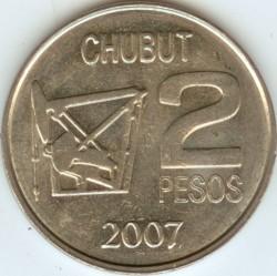 Moneda > 2pesos, 2007 - Argentina  (100º Aniversario - Descubrimiento de Petróleo en Argentina) - reverse