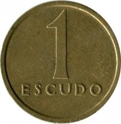 Монета > 1ескудо, 1981-1986 - Португалия  - reverse