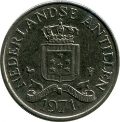 Moneta > 25centesimi, 1970-1985 - Antille Olandesi  - reverse