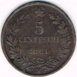 Монета > 5чентезимо, 1861-1867 - Італія  - reverse