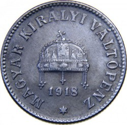 Coin > 10 filler, 1915-1920 - Hungary  - obverse