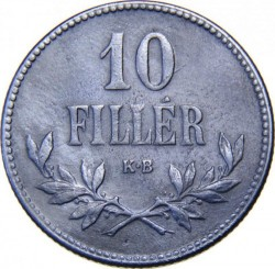 Coin > 10 filler, 1915-1920 - Hungary  - reverse