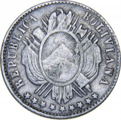Münze > 10Centavos, 1875-1883 - Bolivien  - obverse