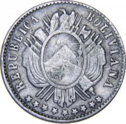 Moneda > 10centavos, 1875-1883 - Bolivia  - obverse