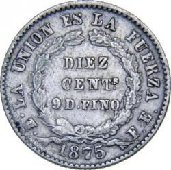 Moneda > 10centavos, 1875-1883 - Bolivia  - reverse