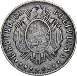 Münze > 20Centavos, 1872-1885 - Bolivien  - obverse