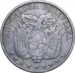 מטבע > 5סנטאבו, 1892 - בוליביה  - obverse