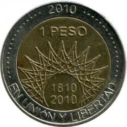 Moneda > 1peso, 2010 - Argentina  (Bicentenario de Argentina - Cerro Aconcagua) - obverse