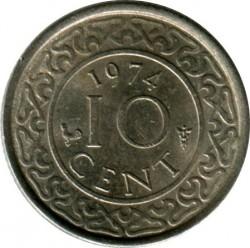 العملة > 10سنت, 1962-1986 - سورينام  - reverse