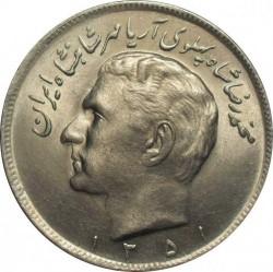 Moneta > 20rialų, 1971-1973 - Iranas  - obverse