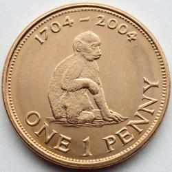 Moneta > 1penny, 2004 - Gibilterra  (300° anniversario - Cattura di Gibilterra) - reverse