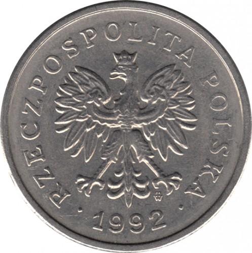 Монета 1 zloty 1992 цена 1336 год