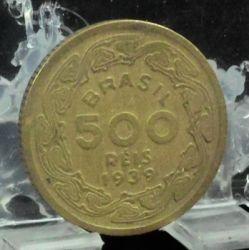 Moneda > 500réis, 1939 - Brasil  - obverse