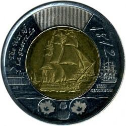 Кованица > 2долара, 2012 - Канада  (War of 1812 - Armoured Cruiser HMS Shannon) - reverse