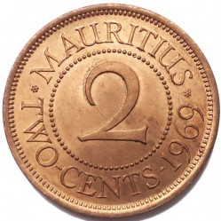 Monēta > 2centi, 1953-1978 - Maurīcija  - reverse