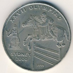 Münze > 50Afghani, 1999 - Afghanistan  (XXVII. Olympische Sommerspiele, Sidney 2000) - obverse