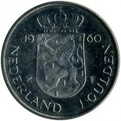 Moneda > 1florín, 1980 - Países Bajos  (Coronación de la Reina Beatriz) - reverse