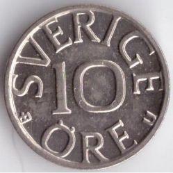 Mynt > 10ore, 1976 - Sverige  - reverse